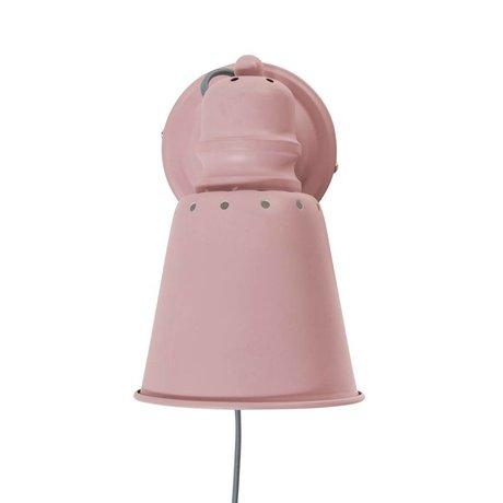 Sebra Wandlamp lichtroze metaal Ø13cm