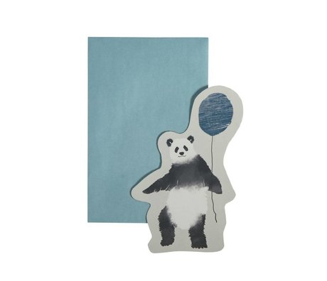 Sebra Wenskaart In the sky blauw gerecycled papier 13x16cm