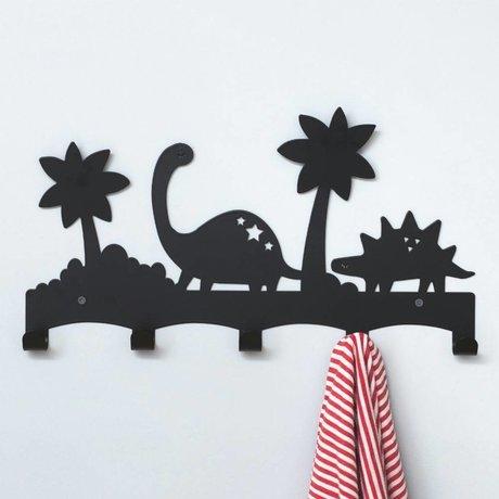 Eina Design Kinderkapstok Dino zwart metaal 40x21,5cm