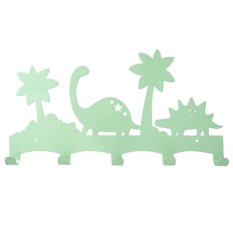 Eina Design Kinder Coatrack Dino mint green metal 40x21,5cm