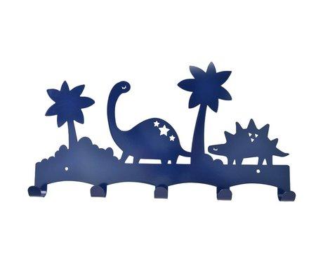 Eina Design Kinderkapstok Dino blauw metaal 40x21,5cm