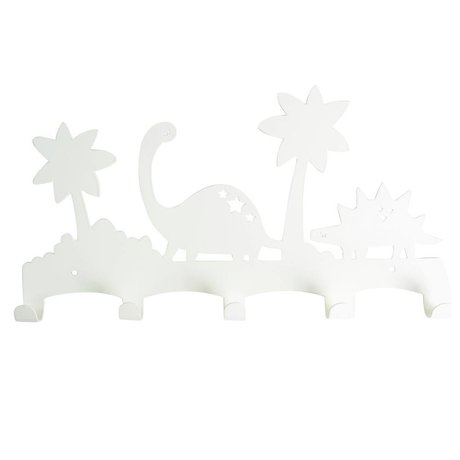 Eina Design Kinderkapstok Dino wit metaal 40x21,5cm