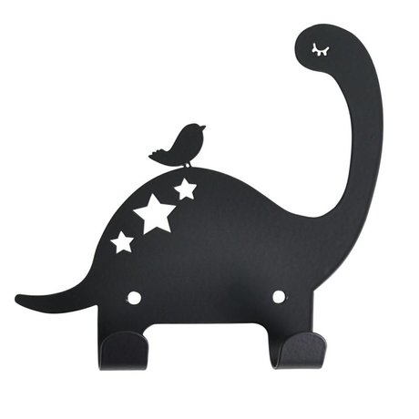 Eina Design Baby Dino Wall Hook Black Metal 15x15,5cm