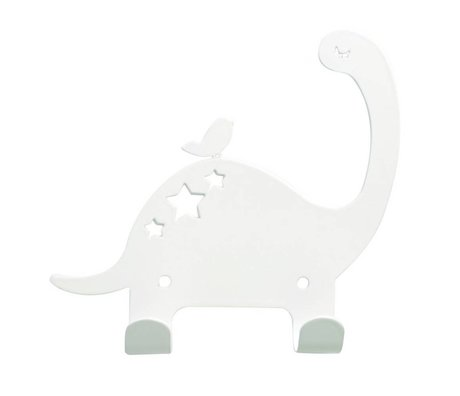 Eina Design Children's wall hook Dino white metal 15x15,5cm