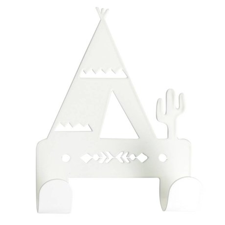 Eina Design Children's Wall Hook tipi white metal 10x14,5cm