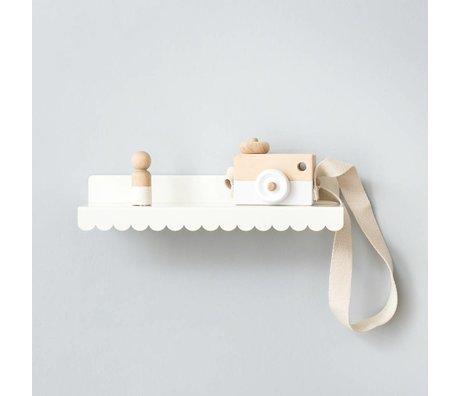 Eina Design Kinderwandplank wit metaal 29x9cm