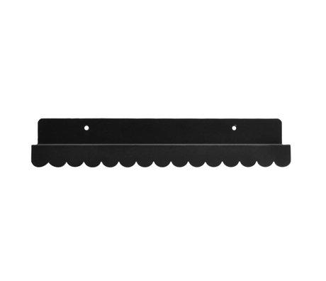 Eina Design Kinderwandplank zwart metaal 29x9cm