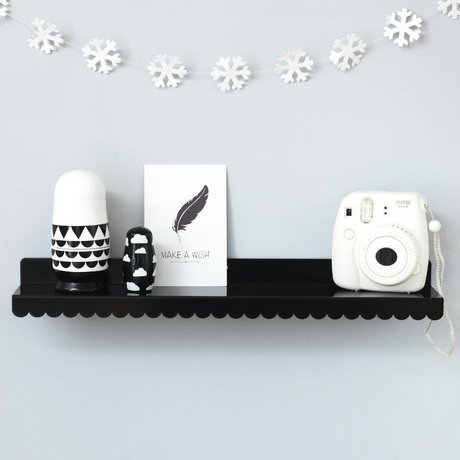 Eina Design Kinderwandplank zwart metaal 50x9cm