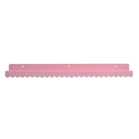 Eina Design Kinderwandplank lichtroze metaal 50x9cm