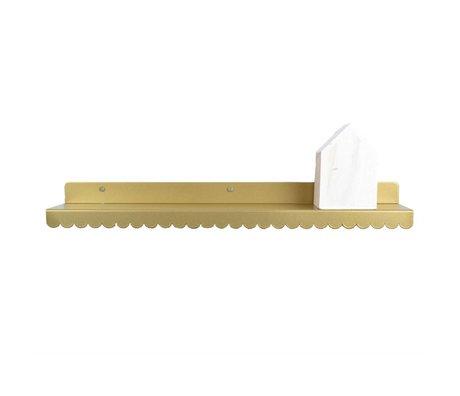 Eina Design Kinderwandplank goud metaal 50x9cm