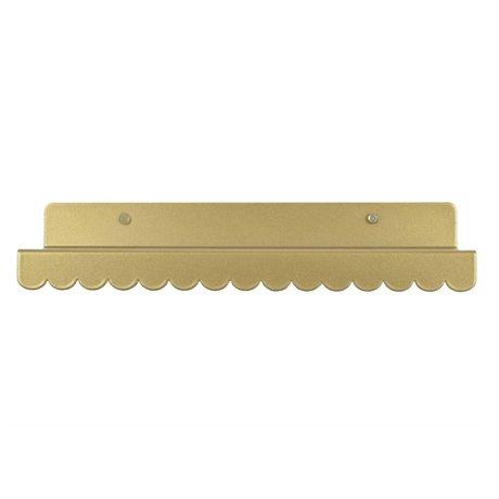 Eina Design Kinderwandplank goud metaal 29x9cm