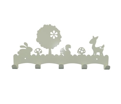 Eina Design Kinder Coatrack Woodland white metal 40x19cm