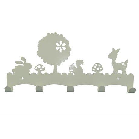 Eina Design Kinderkapstok Woodland wit metaal 40x19cm