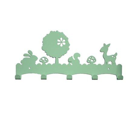 Eina Design Kinderkapstok Woodland mintgroen metaal 40x19cm