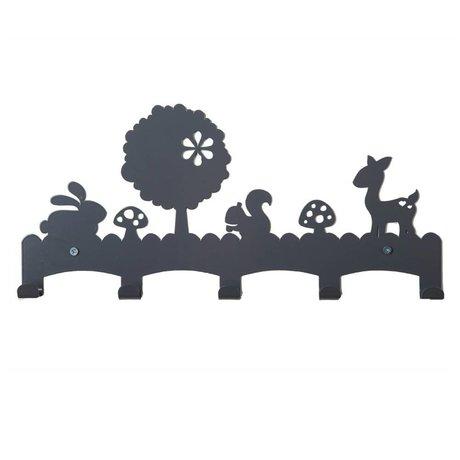 Eina Design Kinderkapstok Woodland grijs metaal 40x19cm