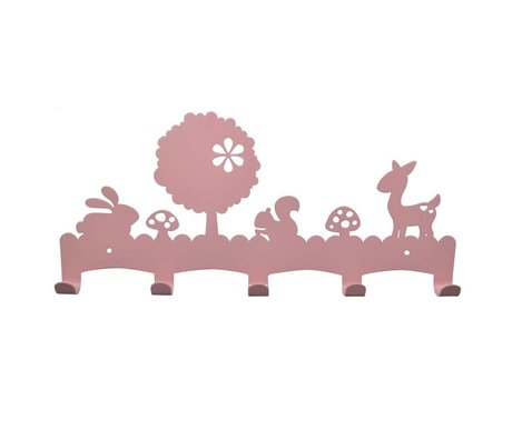 Eina Design Kinderkapstok Woodland lichtroze metaal 40x19cm
