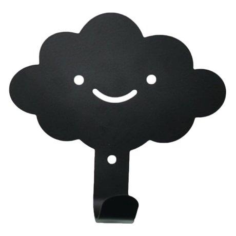 Eina Design Kinderwandhaak wolk zwart metaal 14x13cm