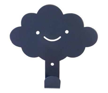 Eina Design Kinderwandhaak wolk antraciet grijs metaal 14x13cm