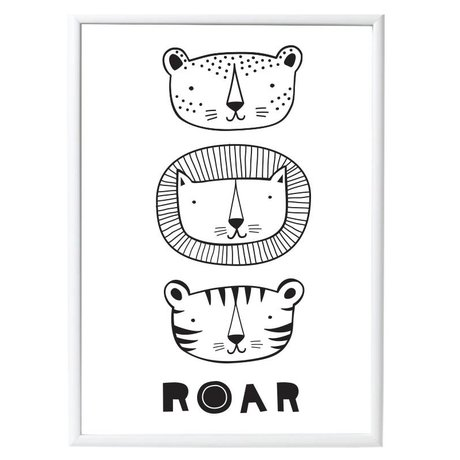 A Little Lovely Company Kinderposter Roar papier 50x70cm