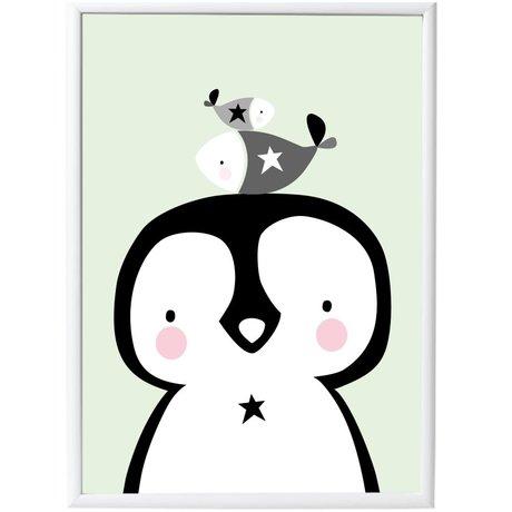 A Little Lovely Company Poster Penguin&Co papier 50x70cm