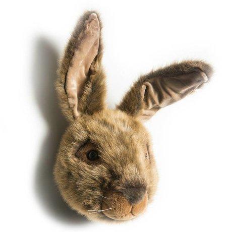 Wild & Soft Animal head hare Lewis brown textile 30x35x45cm