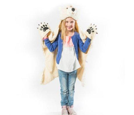 Wild & Soft Kindervermomming Ijsbeer wit textiel 101x126x20cm