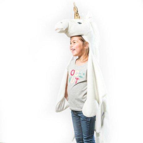 Wild & Soft Kindervermomming Eenhoorn wit goud textiel 102x116x24cm