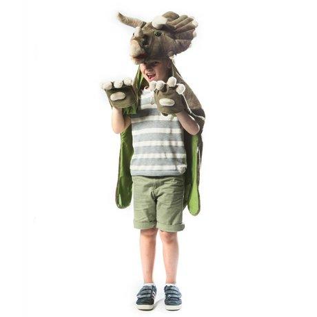 Wild & Soft Kindervermomming Dino donkergroen textiel 114x123x33cm