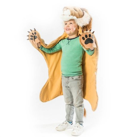 Wild and Soft Kindervermomming Leeuw bruin textiel 89x116x16cm