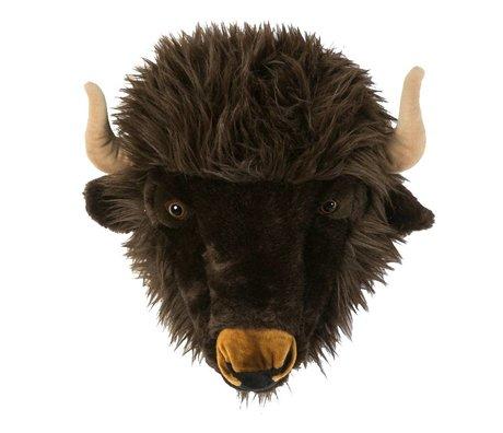 Wild & Soft Animal buffalo Alex gray 35x39x30