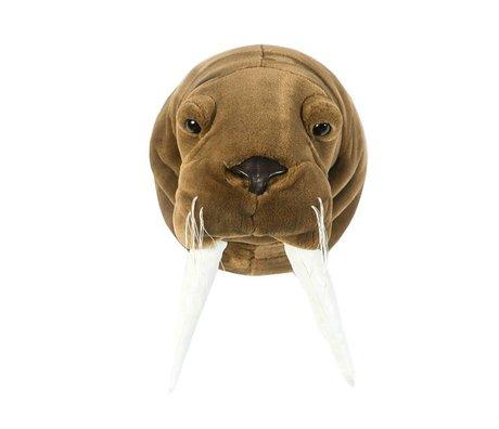 Wild & Soft Dierenkop walrus Jacob bruin 29x24x29