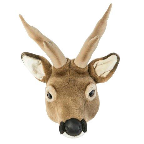 Wild & Soft Dierenkop ree Toby bruin 32x23x46