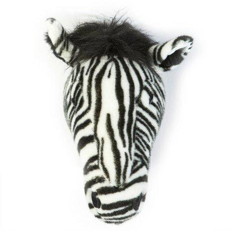 Wild & Soft Dierenkop zebra Daniël zwart wit 34x19x30