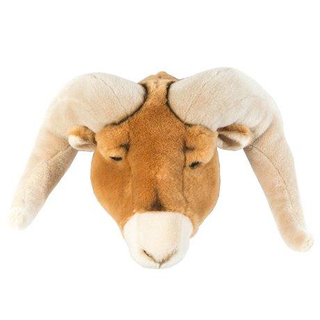 Wild & Soft Dierenkop ram Anthony bruin 37x45x30