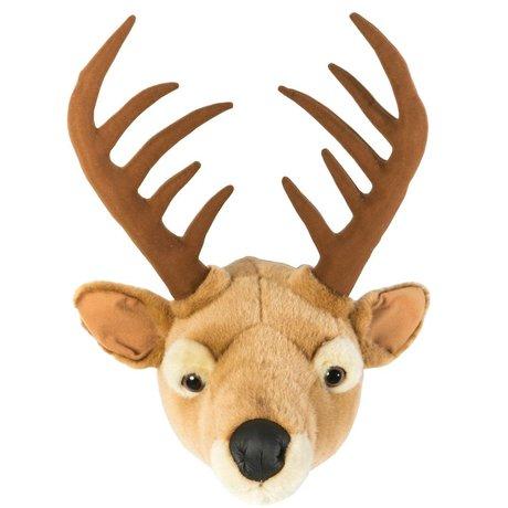 Wild & Soft Dierenkop hert Billy bruin 30x39x41