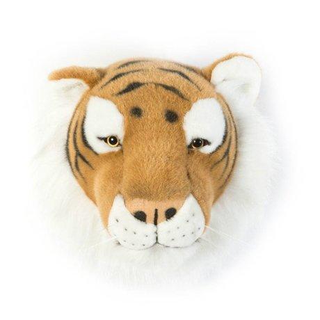 Wild & Soft Dierenkop tijger Felix bruin 27x22x23