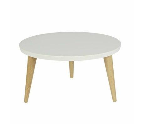 LEF collections Kindertafel Elin wit grenen met retro eiken poten 27x60cm