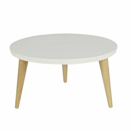LEF collections Children's table Elin white pine with retro oak legs 27x60cm