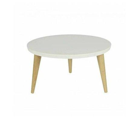 LEF collections Kindertafel Elin wit grenen met retro eiken poten 32x50cm