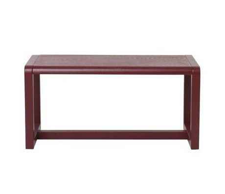Ferm Living kids Children's Bench Little Architect burgundy wood 62x30x30cm