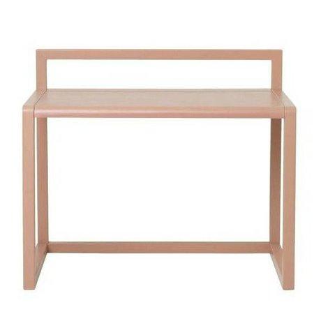 Ferm Living kids Kinderbureau Little Architect roze hout 70x45x60cm