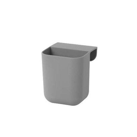 Ferm Living Kinderopbergbakje Little Architect grijs siliconen S 8x8,5x10cm