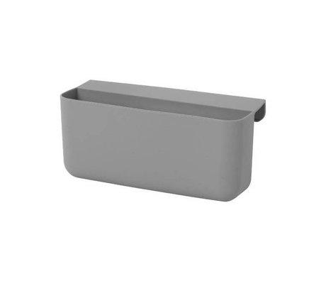 Ferm Living Kinderopbergbakje Little Architect grijs siliconen L 16,5x8,5x10cm