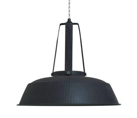 HK-living Kinderhanglamp workshop XL zwart mat rustiek metaal 74x74x70cm