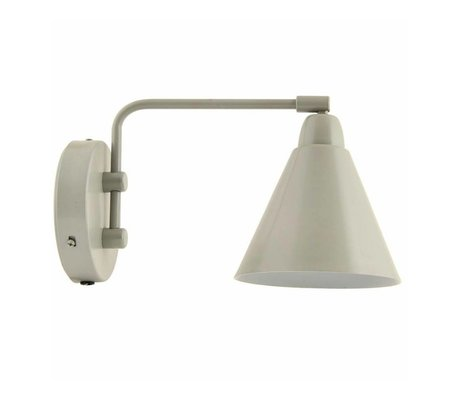 Housedoctor Kinderwandlamp Game metaal grijs/wit 20cm