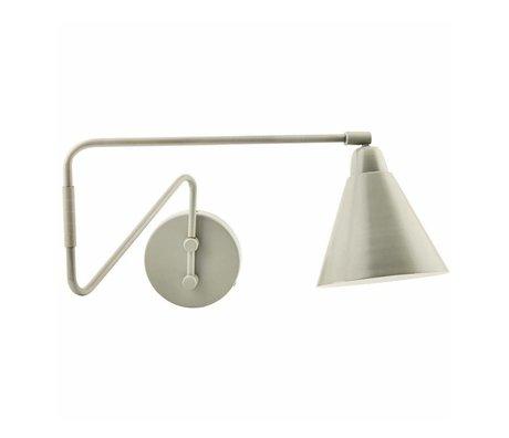 Housedoctor Kinderwandlamp Game metaal grijs/wit 15x13x70cm