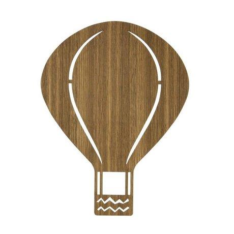 Ferm Living kids Kinderandlamp luchtballon hout 26,5x34,55cm, Smoked oak
