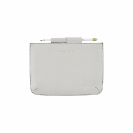 Housedoctor Cover Mini Ipad grijs leer/katoen 24x17cm
