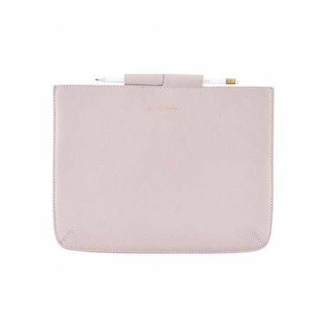 Housedoctor Cover Ipad pink leather / cotton 29x22cm