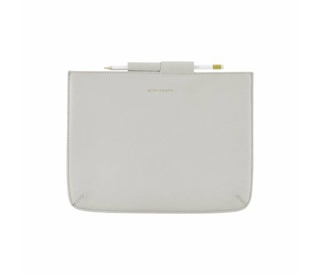 Housedoctor Cover Ipad Gray Leather / Cotton 29x22cm